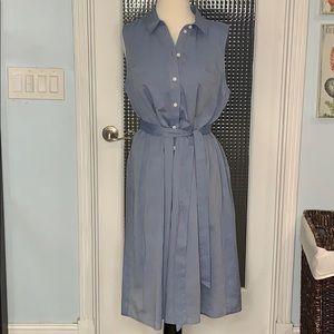 Who What Wear Blue Chambray Shirt Dress L (EM) NEW